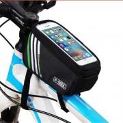 """b-alma YA0207 bolsa de tubo superior de la bicicleta de 4?8"""" telefono - negro (1?4 L)"""