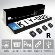 KIYO D Ultimate 4R Rendszámtábla keretbe rejtett lézerblokkoló 4 aktív szenzorral