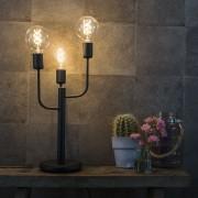 QAZQA Moderne tafellamp zwart 3-lichts - Facile