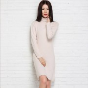 adohon 2018 womens winter Cashmere sweaters and auntmun women knitted Pullovers High Quality Warm Female thickening Turtleneck