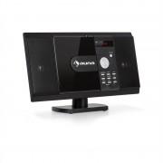 Auna MCD-82 BT, Вертикална стерео система, DVD/CD/Bluetooth/USB/SD/FM, HDMI, черна (MCD6-82 BT BK)