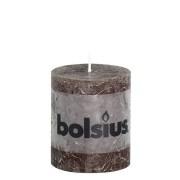 Bolsius rustieke stompkaars Chocolade bruin 80x68