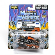 1958 Chevrolet Impala (Black & Orange) * The Original Muscle Machines * Series 12 Maisto 1:64 Scale