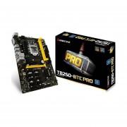 Tarjeta Madre Biostar TB250-BTC PRO Mineria 2xDDR4 12xPCIE USB3 DVI Socket 1151-Negro