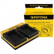PATONA Dual Charger for Sony NP-BX1 BX BX1 NP-BX1 Cybershot DSC HX300 DSC HX50V DSC RX1