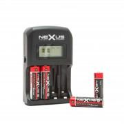 Nexus LCD kijelzős akkumulátor töltő 4 × AA / AAA