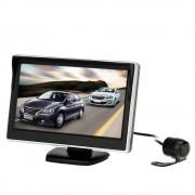 "5 ""TFT LCD Auto Monitor Parking Assistance Auto achteruitrijcamera met spiegel monitor Backup Reverse Auto TV Monitor Auto DVD Screen"