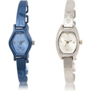 The Shopoholic Blue Silver Combo Latest Collection Fancy And Attractive Blue And Silver Dial Analog Watch For Girls Stylish Watches