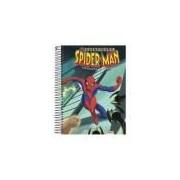 Caderno Universitário Espiral Capa Dura Spider-man 10 Matérias 200 Folhas Foroni