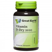 Great Earth Vitamin D-Dry 2000 - 150 tabletter