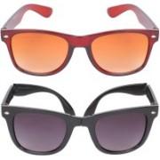 Aligatorr Wayfarer Sunglasses(Golden, Black)