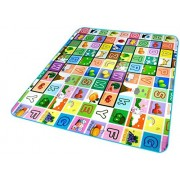 Glive's Baby Educational Play Mat Waterproof Double Side Baby Play Crawl Floor Mat (120 * 180 cm)