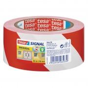 Tesa 1x Tesa aanduidingtape rood met wit 6 cm x 66 mtr