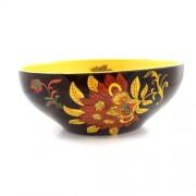 Bol din ceramica negru si galben