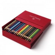Creioane Colorate Grip 2001 Faber-castell 24 Culori / Cutie Metal