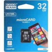 Card de memorie GOODRAM SMC00733, microSDHC, 32GB, Clasa 4 + Adaptor SD