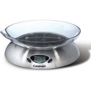 Cuisinart ® Keukenweegschaal Digitaal SCA5CE   Weegt tot 5kg   Geschikt voor gr. en dl.   Tarra-functie   Inclusief vaatwasserbestendige schaal met schenktuit   Geschikt voor magnetron
