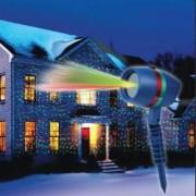 Proiector Star Shower Motion cu Efect 3D holografic Proiectie lumini laser Static si Miscator exterior si interior