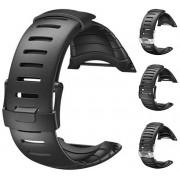 Suunto Pryžový řemínek k hodinkám Core černý se stříbrnou sponou standard