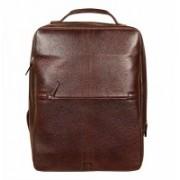 HYATT Leather Laptop Backpacks Bag 16 L Laptop Backpack(Black)