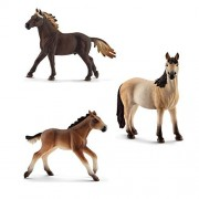 Schleich Toy Horses Figurine Set - Mustang Horse Family - Stallion Mare and Foal by SuePerior Living