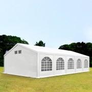 Intent24.fr Tente de réception 5x10m PE 300 g/m² blanc imperméable barnum, chapiteau