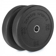 Capital Sports Renit, hi temp gumikerék, 50,4 mm, alumínium mag, gumi, 2 x 20 kg (PL-2x-30202)
