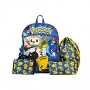 """Nintendo Pokemon Blue and Yellow 16"""" Backpack Back to School Essentials Set"""