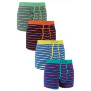 Mens Next Stripe A-Fronts Four Pack - Stripe