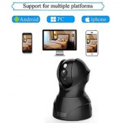WiFi Security Camera 1080P HD 2.0 Megapixel Wireless IP/Network Surveillance Home Office Monitoring System Pan-Tilt Remote Motion Detection Night Vision Mobile and Tablet View (628-200 Black)