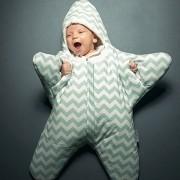 Linda Estrella De Mar Estilo Ropa Bolsa De Dormir De Bebe 0 - 6 Meses Baby, Tamaño: 85yard (verde)