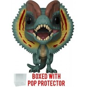 Funko Pop Movies: Jurassic Park - Dilophosaurus Frill Open Vinyl Figure (Bundled with Box Protector Case)