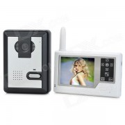 """SY359MJ11 3.5"""" TFT 2.4GHz impermeable inalambrico 300KP puerta de video digital w / vision nocturna - blanco"""