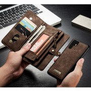 CASEME 008 Series Multi-functional 2-in-1 Zipper Wallet Split Leather Case for Huawei P30 Pro - Brown