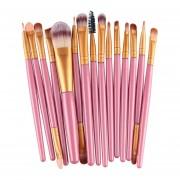 15/10/4 piezas maquillaje pinceles/brochas Fundación de polvo delineador de ojos(#Púrpura)