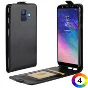 Samsung Galaxy A6 (2018) Flip3 Кожен Калъф и Скрийн Протектор