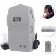 AXON X-136 Pocket High Power Wired Box Mini Hearing Aid Best Sound Amplifier Receiver Elderly Deafness Ear Care tool.