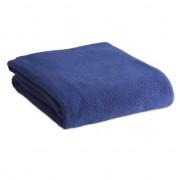 Merkloos Fleece deken/plaid blauw 120 x 150 cm