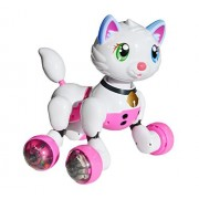 Robot Interactive Kitten | Voice Recognition Intelligent Electronic Cat Toy | Gesture Sensing Talk Sing Dance Wake-up Sleep Laugh Meow Wagging Tail Scoot Around | Don't Wait and Adopt Me Today!