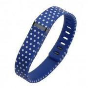 Modelo de puntos de pulsera deportivo Banda de Fitbit Flex - azul + blanco (L)