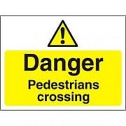 Unbranded Warning Sign Pedestrians Crossing PVC 30 x 40 cm