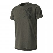 adidas Men's Freelift Tric T-Shirt - Utility Grey - S - Utility Grey