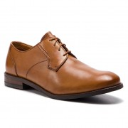 Обувки CLARKS - Edward Plain 261395367 Tan Leather