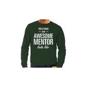 Bellatio Decorations Awesome mentor / leermeester cadeau sweater groen heren