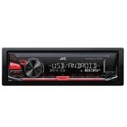 JVC KD-X141 Autoradio Digitale Compatibile con Android, Rosso