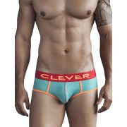 Clever Sounds Of Machu Picchu Piping Brief Underwear Green 5271