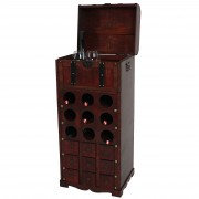 Weinregal Calvados T253, Flaschenregal Regal Holzregal, für 9 Flaschen Kolonialstil 104x45x38 cm ~ Variantenangebot