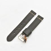 Curea piele neagră vintage cusatură albă QR 22mm -3920122