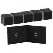 Pearl Doppel CD Slim Soft Boxen im 50er-Set, 7 mm, schwarz