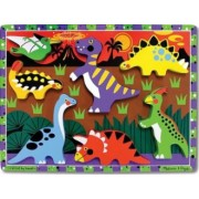 Puzzle lemn in relief Dinozauri Melissa and Doug